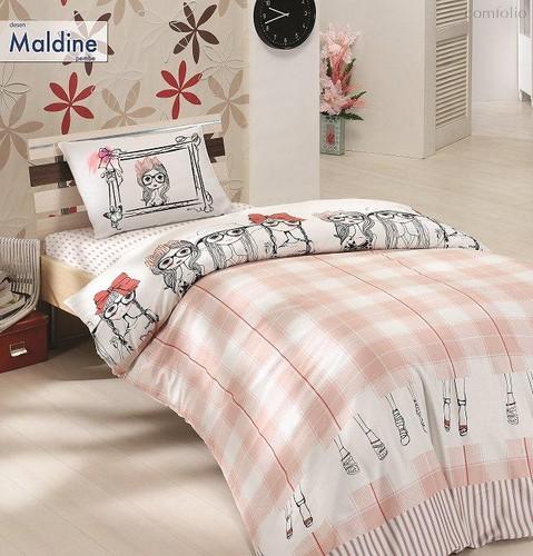 Постельное белье Ranforce 50х70*1 шт MALDINE, цвет розовый, размер 1.5-спальный - Altinbasak Tekstil