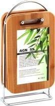Набор Досок Деревянных на Подставке Agness 5 Пр. 23x15x1 см - Nanlin industries
