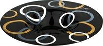 Блюдо Сфера Black Авторская Роспись Диаметр 40 см - ГлассМун