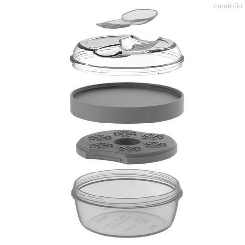 Ланч-бокс с охлаждающим элементом N'ice Cup™ серый, цвет серый - Carl Oscar