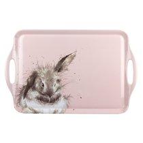 """Поднос прямоугольный с ручками Pimpernel """"Забавная фауна. Пушистый кролик"""" 48х30см - Pimpernel"""