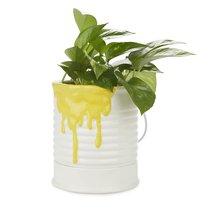Кашпо керамическое для цветов Painty желтое 18см, цвет желтый - Balvi
