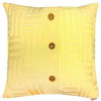 "Вязаный чехол для подушки ""Квадро"", 43х43см, 02-V336/1, цвет желтый - Altali"