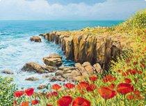 Доска разделочная стеклянная Побережье Нормандии 40х30 см - Top Art Studio
