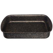 Форма Agness Премиум Черное Золото Прямоугольная 35Х26X6,5 см, Трехслойное Покр Granit, Pfoa Free - ISFA Metal Tekstil