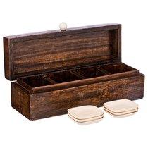 Набор Для Чайных Пакетиков: Коробка 32X10X10 см + 6 Подставок - FASCINATING INDIA