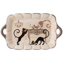 Блюдо Парижские Коты 23,5x14 см Высота 2,5 см - Huachen Ceramics