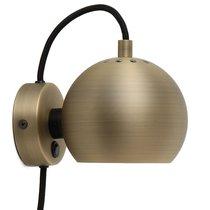Лампа настенная Ball, d12 см, античная латунь, матовая - Frandsen