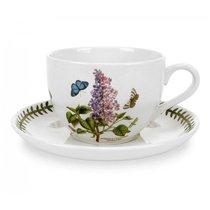 """Чашка для завтрака с блюдцем Portmeirion """"Ботанический сад. Сирень"""" 500мл - Portmeirion"""