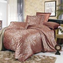 Комплект постельного белья JC-07, цвет коричневый, Семейный - Valtery