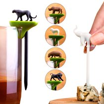 Набор шпажек-маркеров для бокалов Hot animal - Qualy