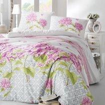 Постельное белье Ranforce Larin, цвет сиреневый, размер Евро - Altinbasak Tekstil