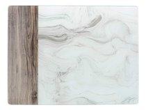 Доска стеклянная Мраморный мотив 30х40 см - Creative Tops