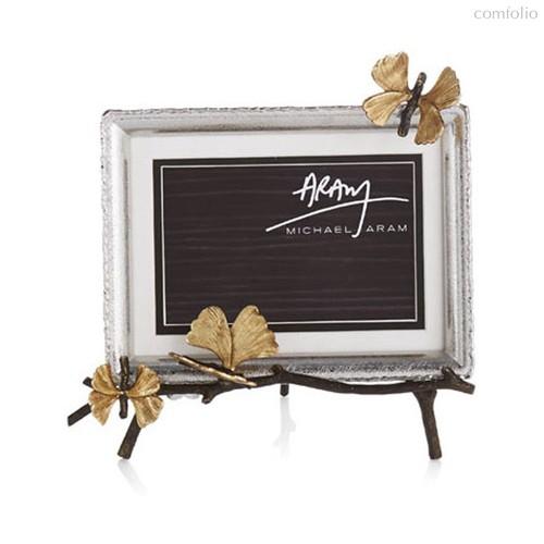 """Рамка для фото на подставке Michael Aram """"Бабочки гинкго"""" 13х18см - Michael Aram"""