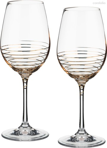 Набор бокалов для вина из 2 шт. SPIRAL 350 мл ВЫСОТА 22 см . - Crystalex