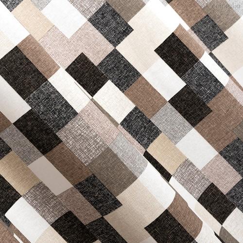 Ткань лонета Этнос серо-коричневый ширина 280 см / 2145/3, цвет серый - Altali