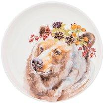 Тарелка Закусочная Лесная Сказка Медведь, 19см - Jinding