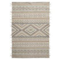 Ковер из хлопка, шерсти и джута с геометрическим орнаментом из коллекции Ethnic, 200х300 см - Tkano
