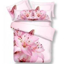 Комплект постельного белья RS-91, цвет розовый, Евро - Famille