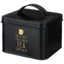 Банка Agness Черное Золото Для Чайных Пакетиков 12,5x12,5x7 см Без Упаковки, цвет черный - SunWay (China3way)