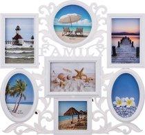 Фоторамка-Коллаж 47x43x3 см На 7 Фото 10x10/13x13/10x15/15x10 см - Polite Crafts&Gifts