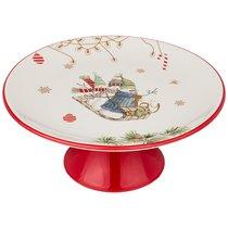 Тортовница Зимняя Забава 22x22x11 см - Huachen Ceramics