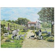 Доска разделочная стеклянная Lesser & Pavey Колли с овечками 40x30см - Lesser & Pavey
