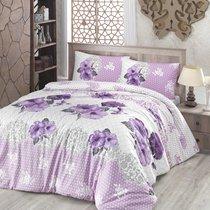 Постельное белье Ranforce Guldem, цвет сиреневый, размер Евро - Altinbasak Tekstil