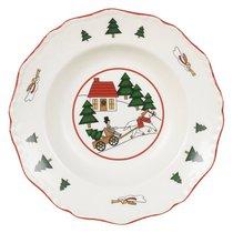 Тарелка суповая 22 см Рождественская деревенька - Mason's