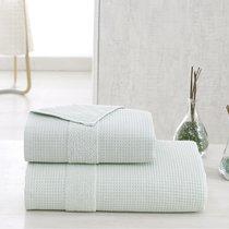 Полотенце Karna Truva, микрокотон двухсторонний, цвет зеленый, размер 50x100 - Karna (Bilge Tekstil)