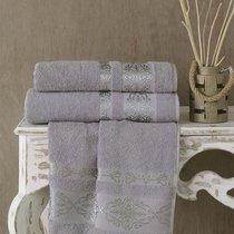 Полотенце махровое Karna Rebeka, цвет серый, 50x90 - Bilge Tekstil