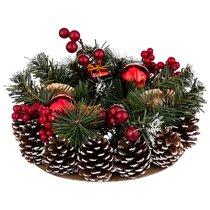 Подсвечник Золотой Декорированный На 2 Свечи Диаметр 23 см - Polite Crafts&Gifts