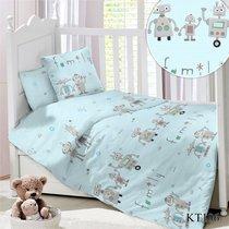 CДA-10-030/KT-106 Семейка РоботовКПБ Детский в кроватку Сатин АльВиТек - АльВиТек