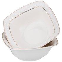 Набор Из 2 Салатников - Тарелок Суповых Диаманд Голд Квадрат 16 см - Shunxiang Porcelain