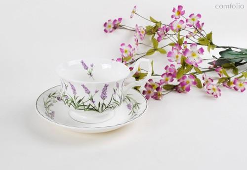 Чайная пара для завтрака Лаванда Прованса 400 мл - Top Art Studio