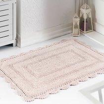 Коврик для ванной Evora, кружевной, цвет пудра, 60x100 - Bilge Tekstil