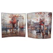 Картина Осень в Париже 58х58 см (пара) - Top Art Studio