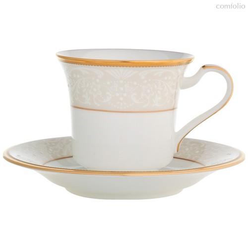 """Чашка чайная с блюдцем 200мл """"Белый дворец"""" - Noritake"""