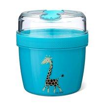 Ланч-бокс с охлаждающим элементом N'ice Cup™ Giraffe бирюзовый, цвет бирюзовый - Carl Oscar