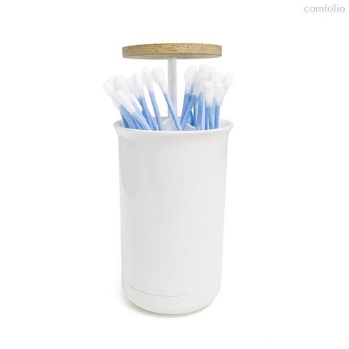 Контейнер для ватных палочек Push & Up, цвет белый - Balvi