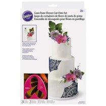 Набор штампов для вырезания цветов из теста и мастики Wilton, 28шт - Wilton