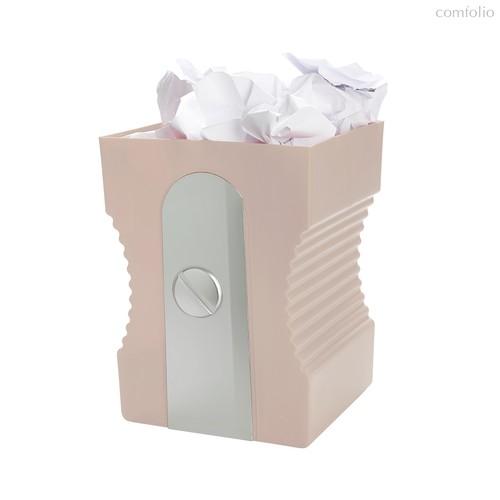 Корзина для бумаг Sharpener светло-розовая, цвет светло-розовый - Balvi