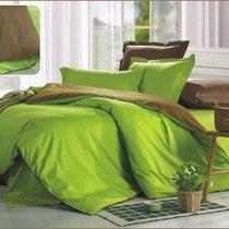 Комплект постельного белья OD-21, цвет зеленый, Семейный - Valtery