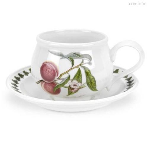 """Чашка чайная с блюдцем Portmeirion """"Помона. Персик"""" 200мл - Portmeirion"""