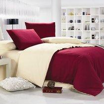 Бордо - комплект постельного белья, цвет бордовый, размер 1.5-спальный - Valtery