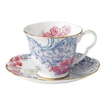 Чашка чайная с блюдцем Wedgwood Бабочки и цветы 180мл - Wedgwood