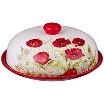 Блюдо Для Блинов С Крышкой Полевые Маки Диаметр 23 см Высота 10 см - Huachen Ceramics