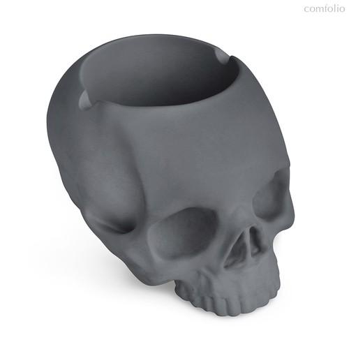 Пепельница Skully серая, цвет серый - Balvi