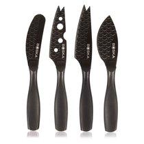 """Набор мини-ножей для сыра Boska """"Монако+"""" 16см, 4шт (чёрный) - Boska"""