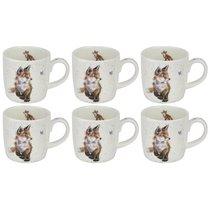 """Набор кружек Royal Worcester """"Забавная фауна"""",""""Рожденный диким лисом"""" 310мл, 6шт, костяной фарфор - Royal Worcester"""